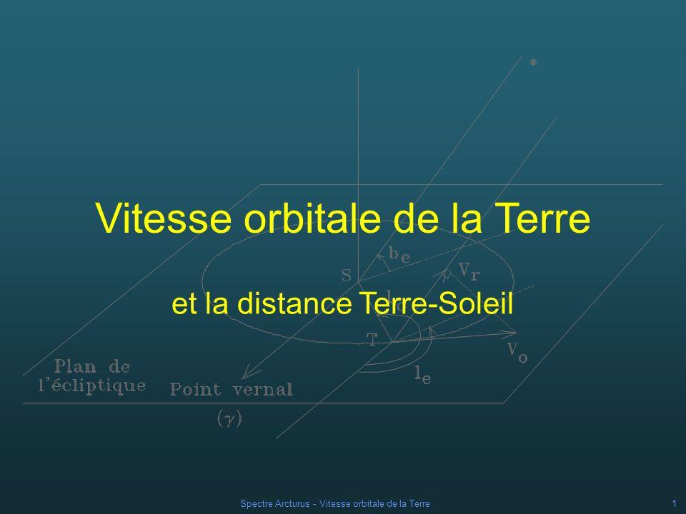 Vitesse orbitale de la Terre