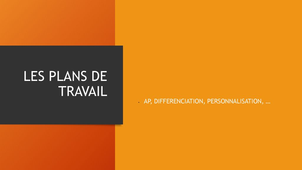 AP, DIFFERENCIATION, PERSONNALISATION, …