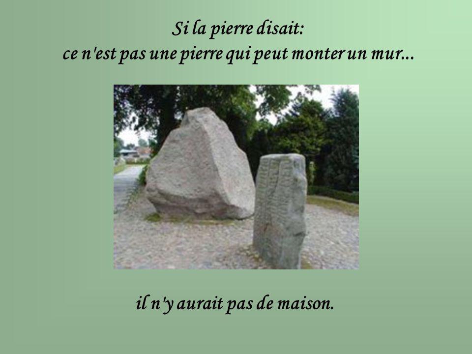 ce n est pas une pierre qui peut monter un mur...