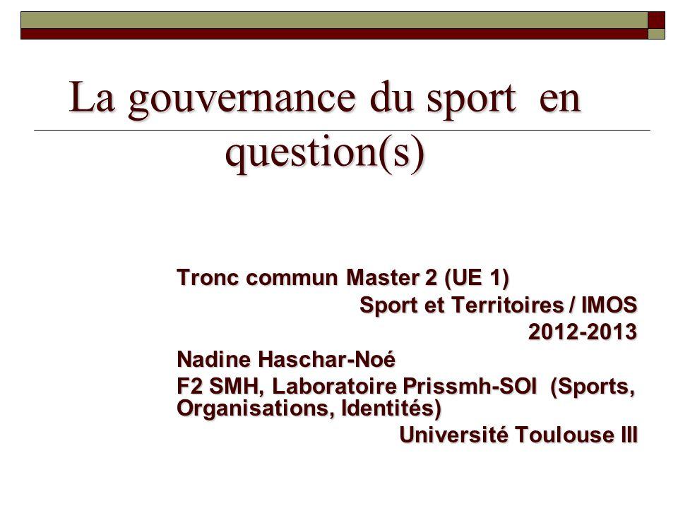 La gouvernance du sport en question(s)
