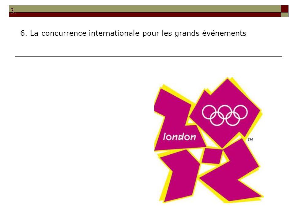 3. 6. La concurrence internationale pour les grands événements