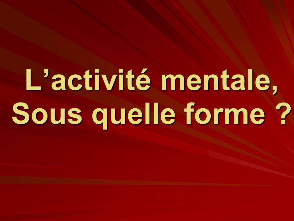 L'activité mentale, Sous quelle forme