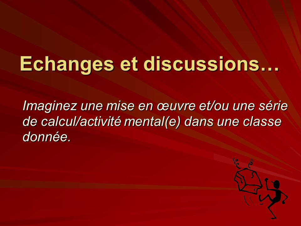 Echanges et discussions…