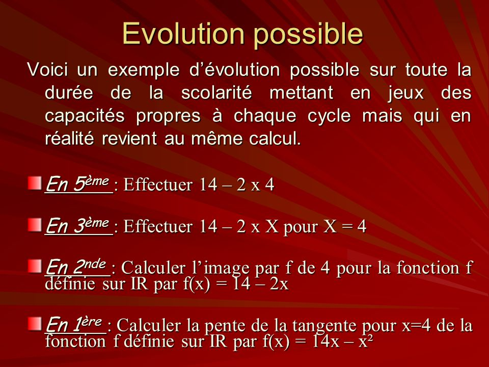 Evolution possible