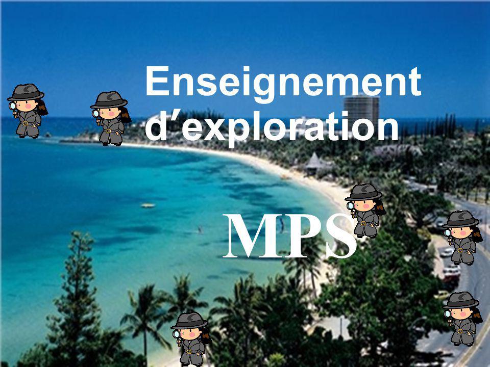 Enseignement d'exploration MPS