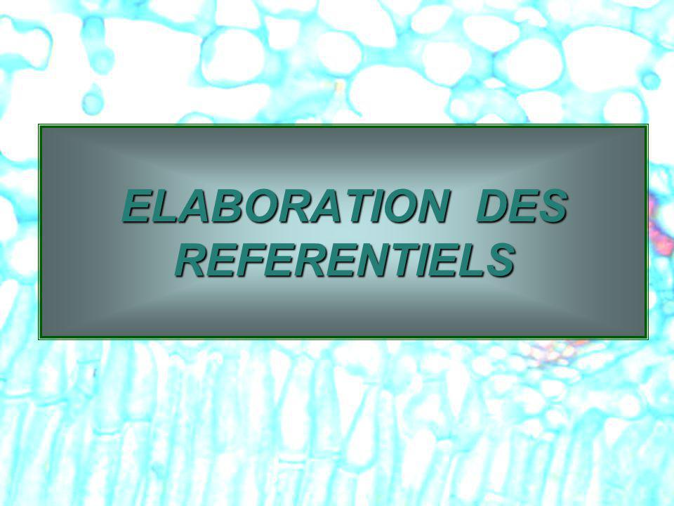ELABORATION DES REFERENTIELS
