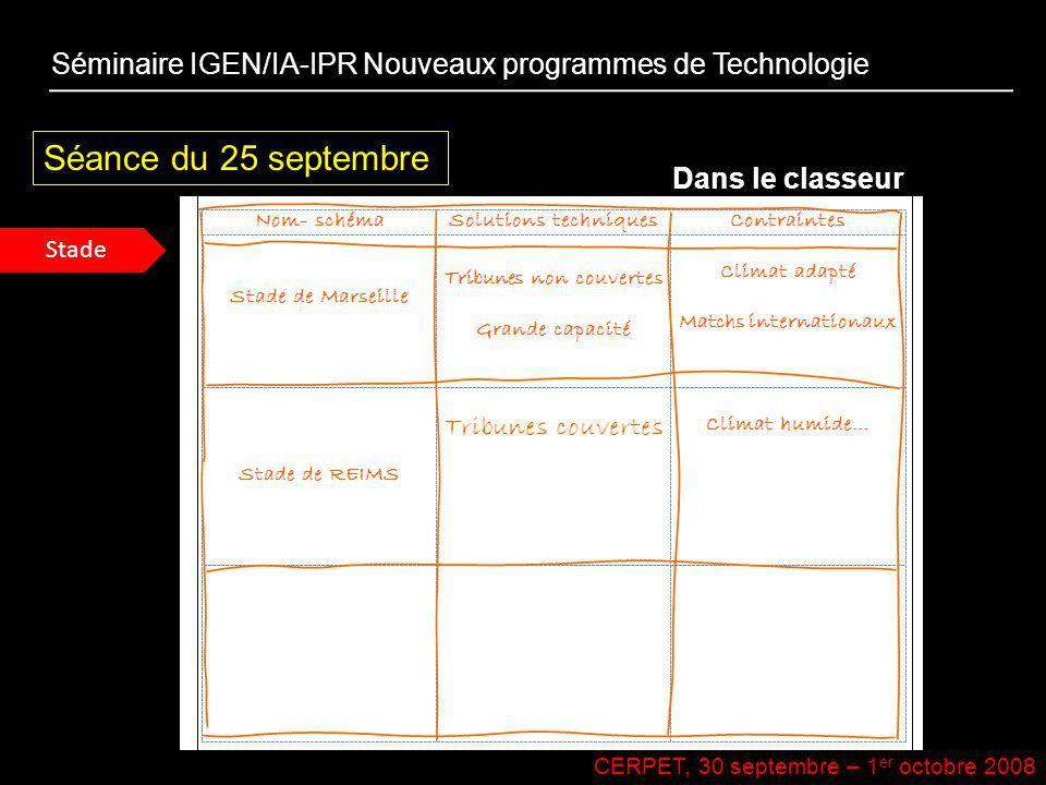 Séminaire IGEN/IA-IPR Nouveaux programmes de Technologie