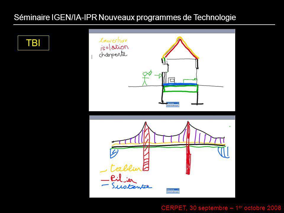 TBI Séminaire IGEN/IA-IPR Nouveaux programmes de Technologie