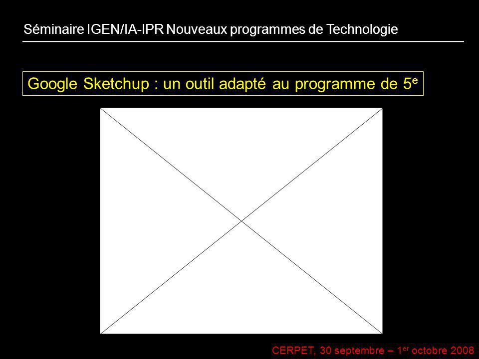 Google Sketchup : un outil adapté au programme de 5e