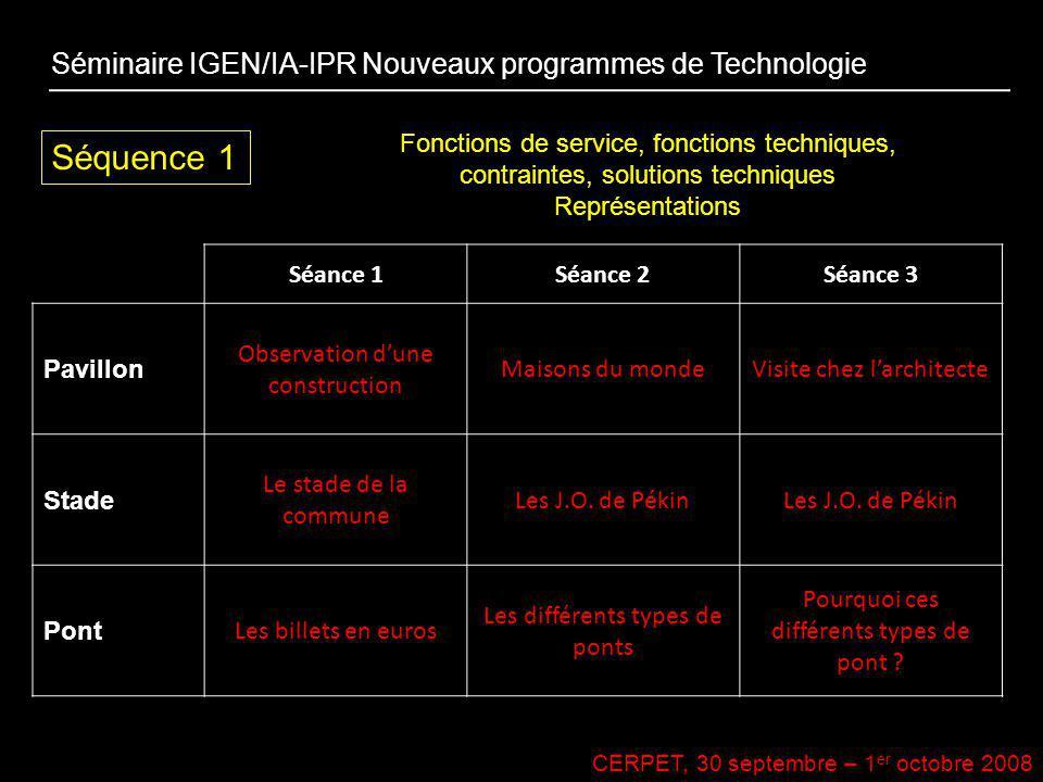 Séquence 1 Séminaire IGEN/IA-IPR Nouveaux programmes de Technologie