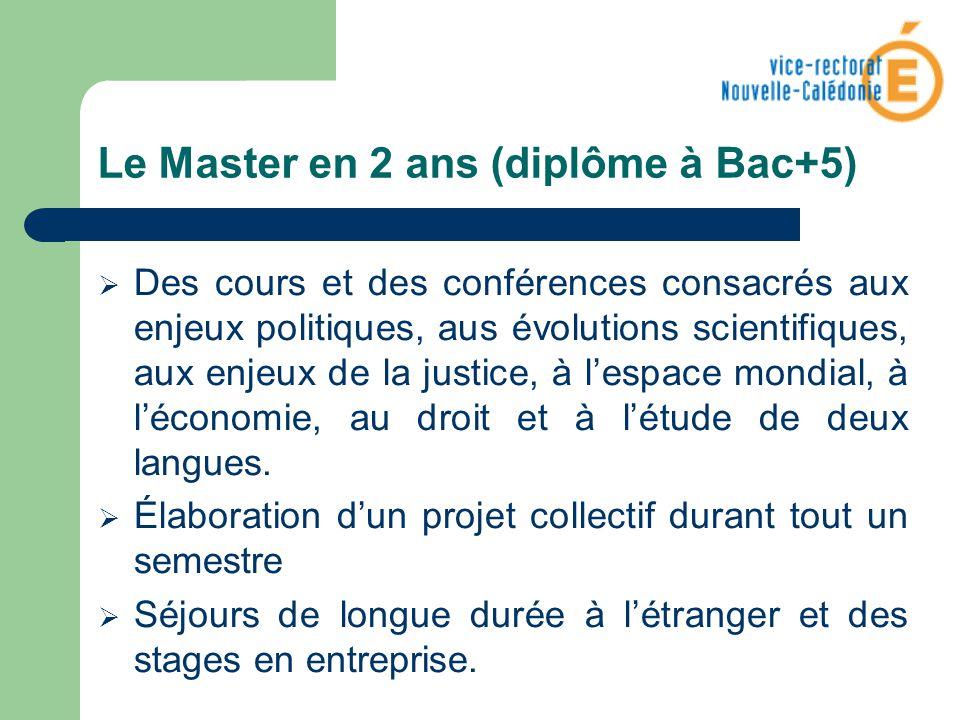 Le Master en 2 ans (diplôme à Bac+5)
