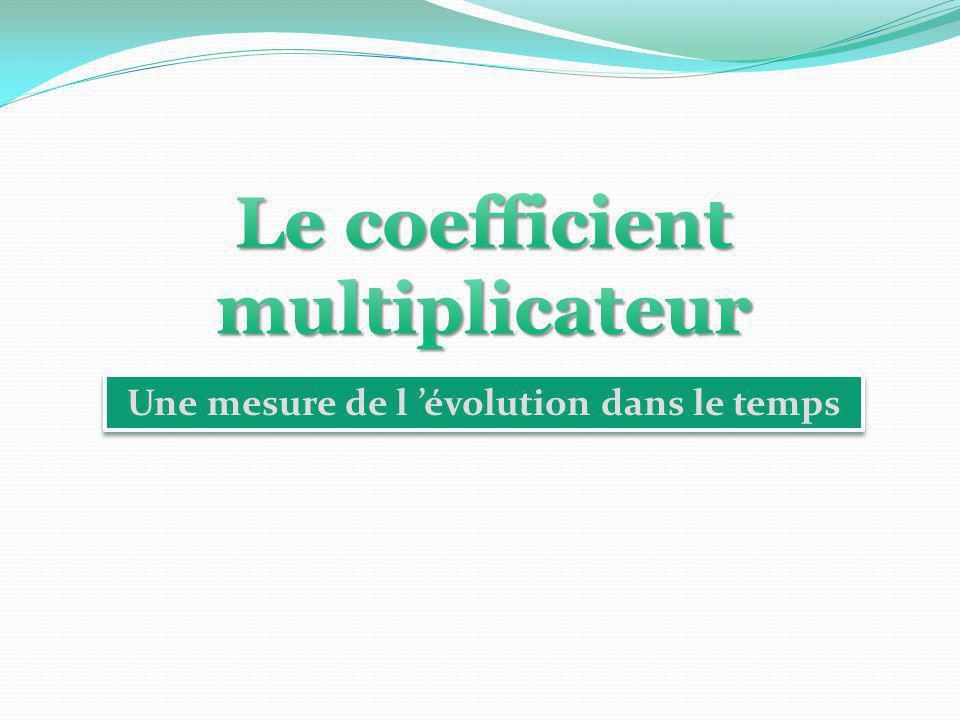 Le coefficient multiplicateur Une mesure de l 'évolution dans le temps