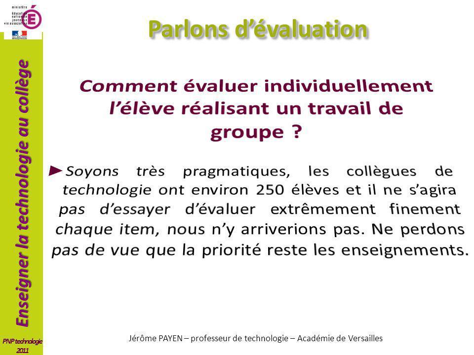 Jérôme PAYEN – professeur de technologie – Académie de Versailles