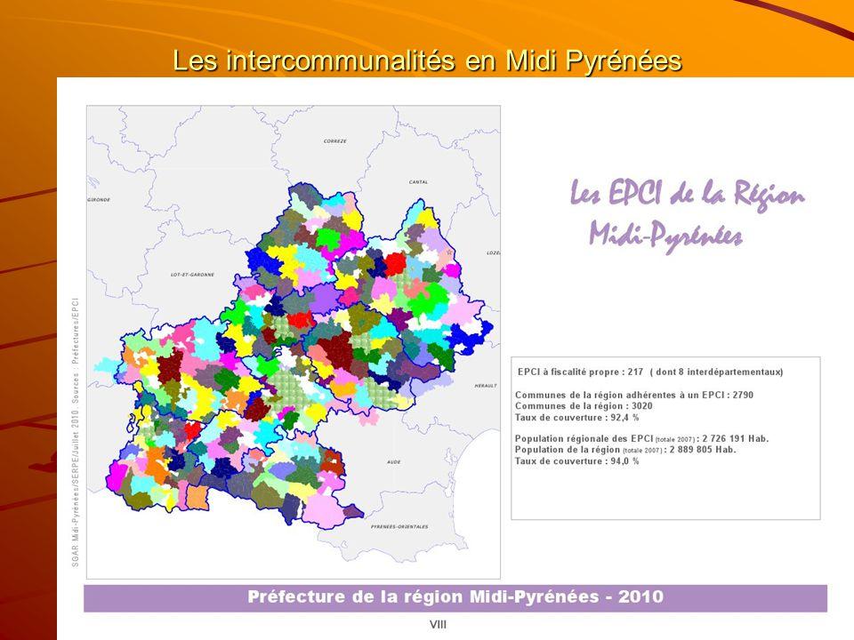 Les intercommunalités en Midi Pyrénées