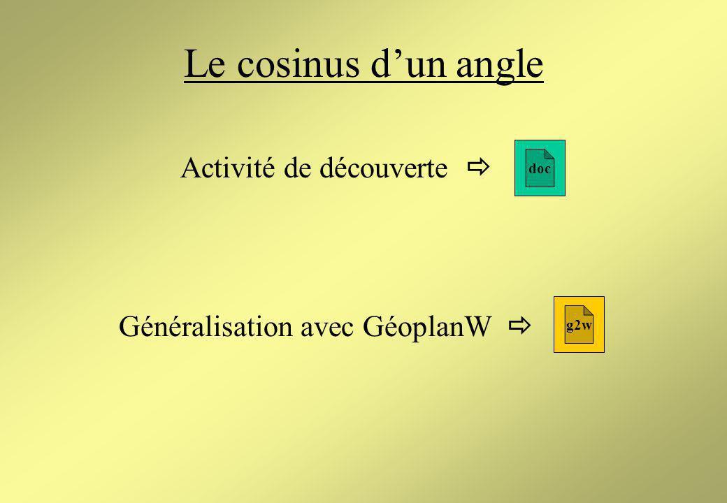 Généralisation avec GéoplanW 