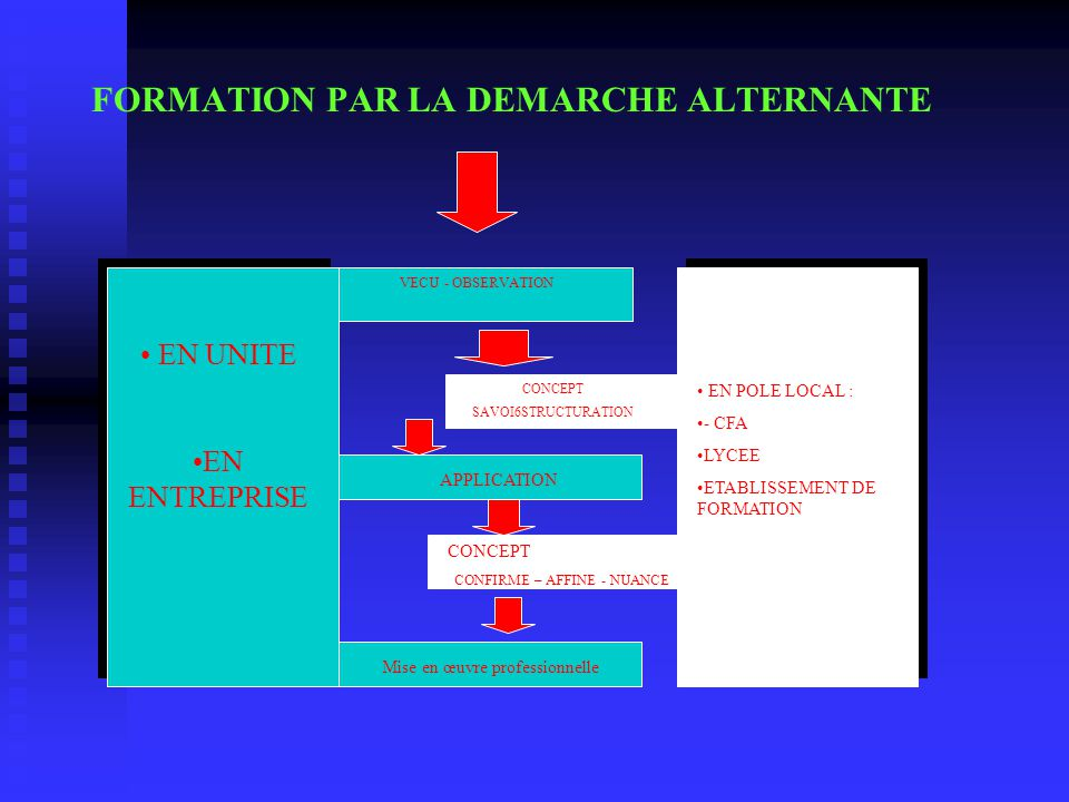 FORMATION PAR LA DEMARCHE ALTERNANTE