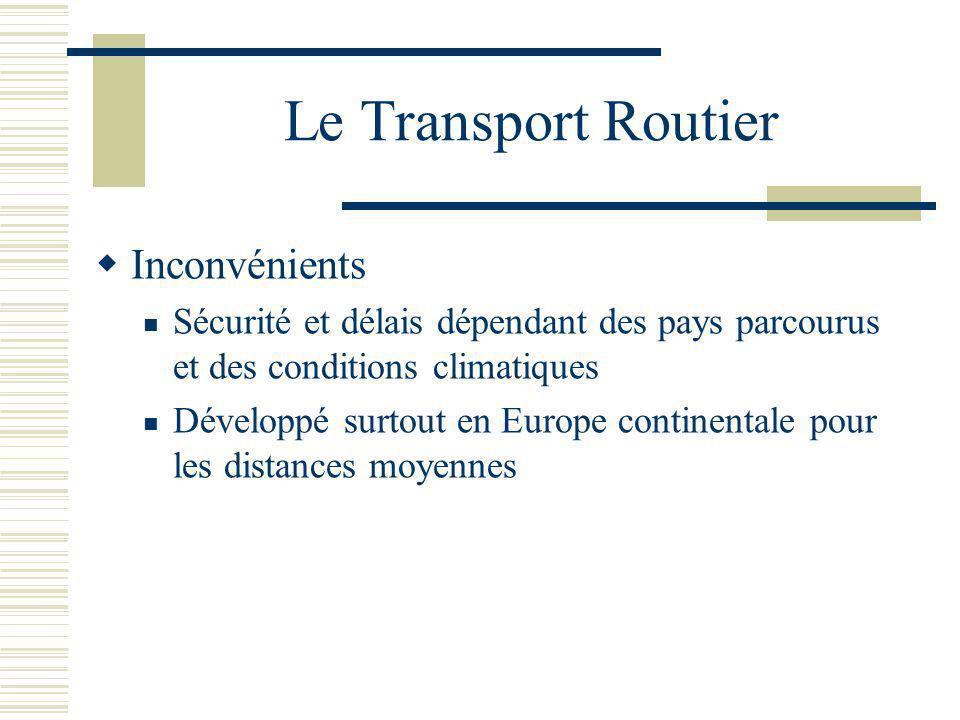 Le Transport Routier Inconvénients