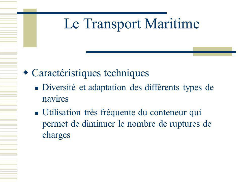 Le Transport Maritime Caractéristiques techniques