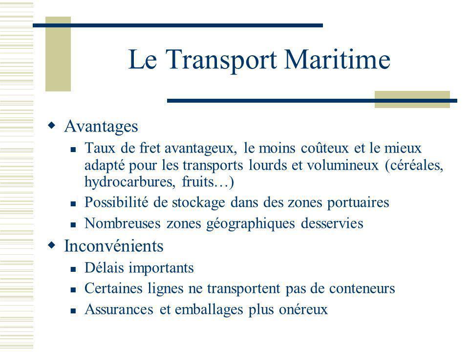 Le transport les diff rents modes de transport for Tarif conteneur maritime