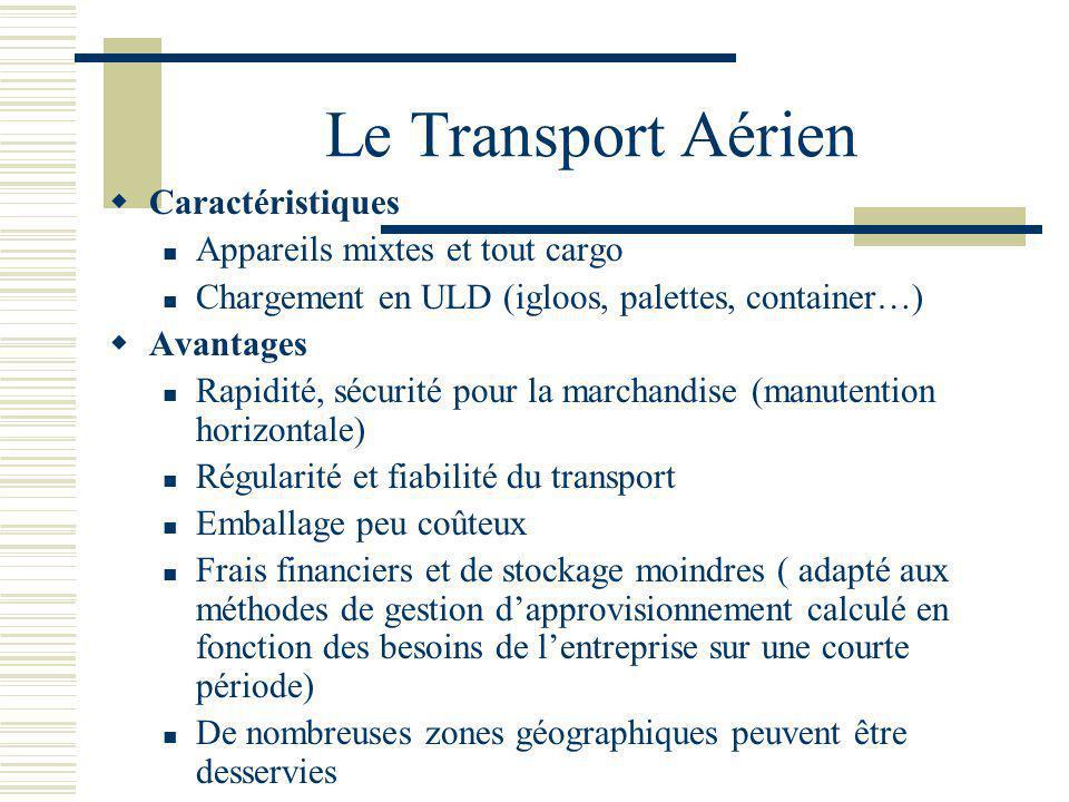 Le Transport Aérien Caractéristiques Appareils mixtes et tout cargo