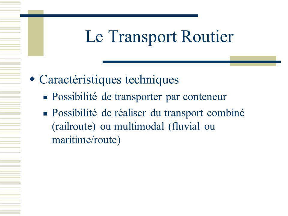 Le Transport Routier Caractéristiques techniques
