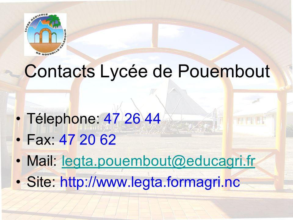 Contacts Lycée de Pouembout