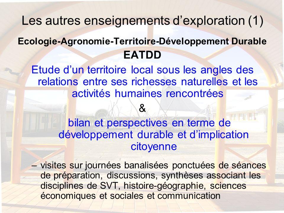 Les autres enseignements d'exploration (1)
