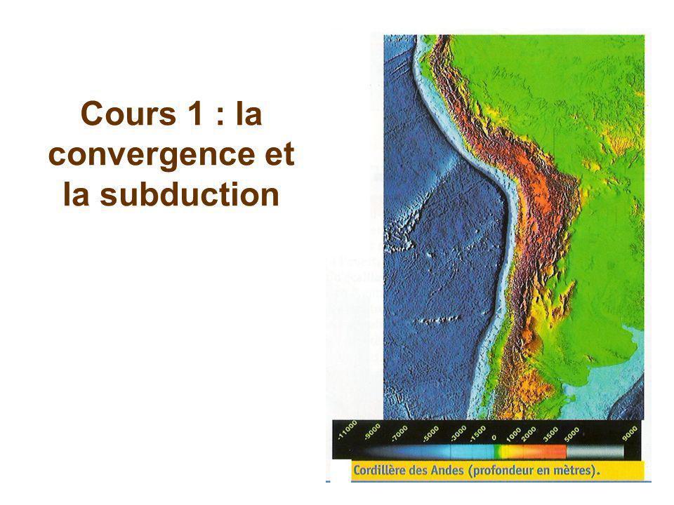 Cours 1 : la convergence et la subduction