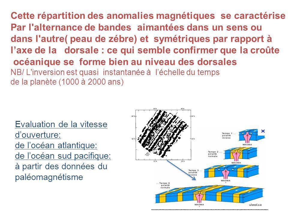 Cette répartition des anomalies magnétiques se caractérise