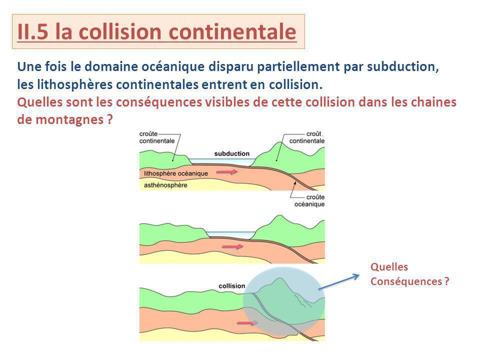 II.5 la collision continentale
