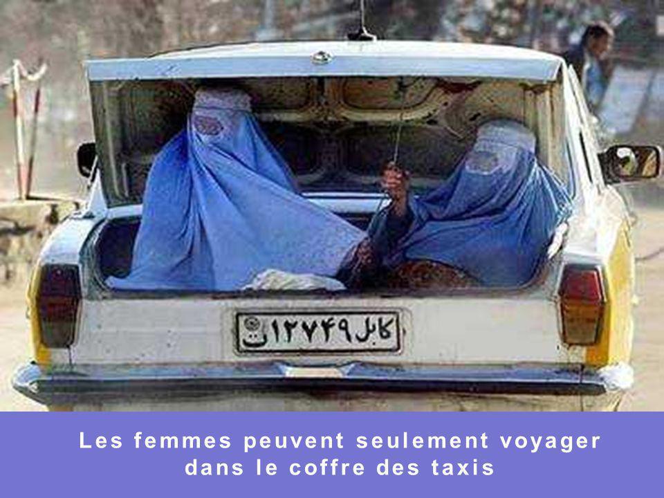 Les femmes peuvent seulement voyager dans le coffre des taxis