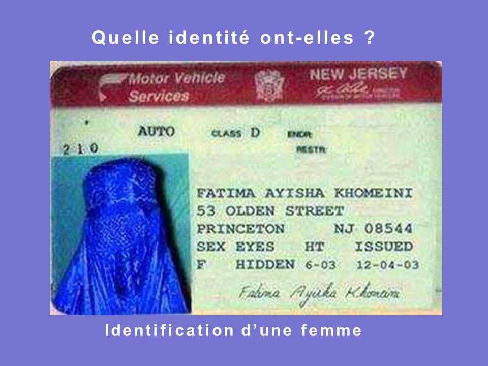 Identification d'une femme