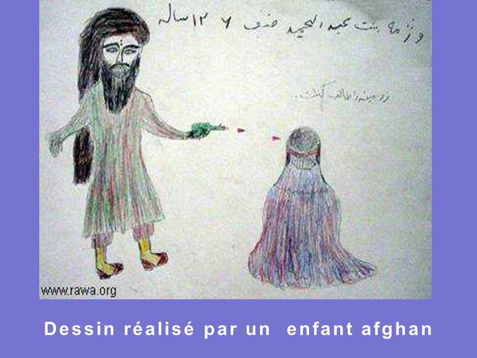 Dessin réalisé par un enfant afghan