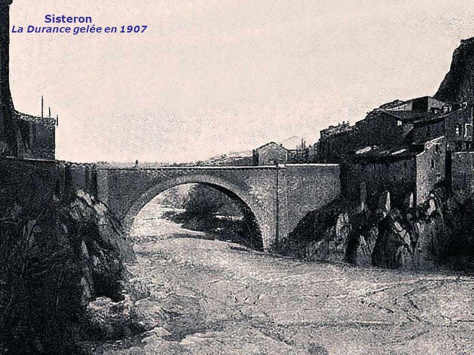 Sisteron La Durance gelée en 1907