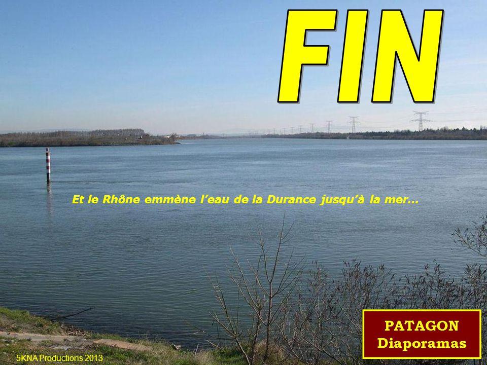 Et le Rhône emmène l'eau de la Durance jusqu'à la mer…