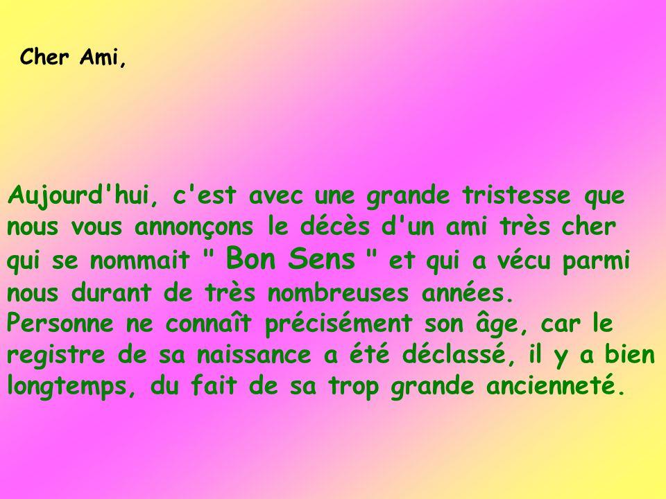 Cher Ami,