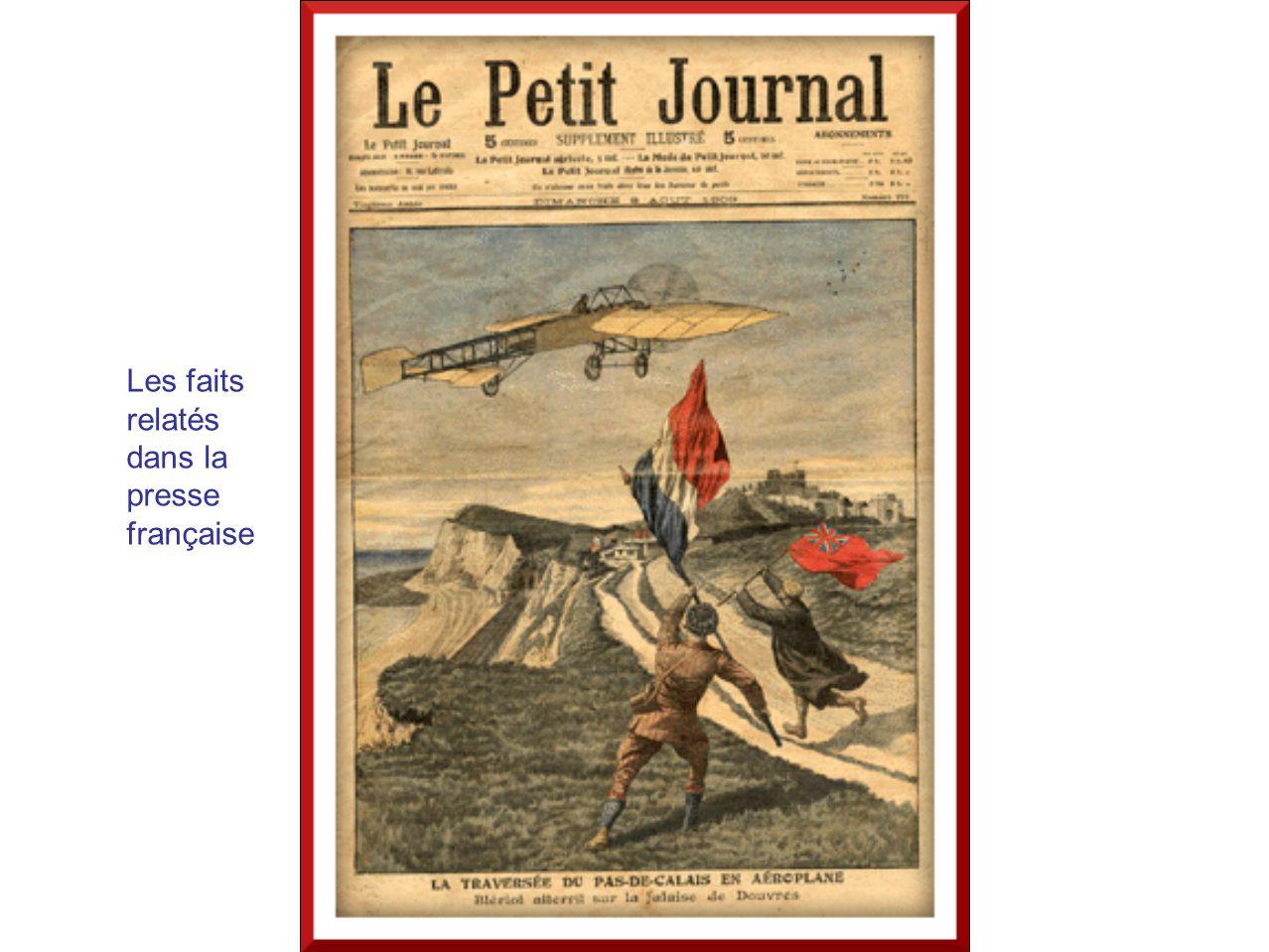 Les faits relatés dans la presse française