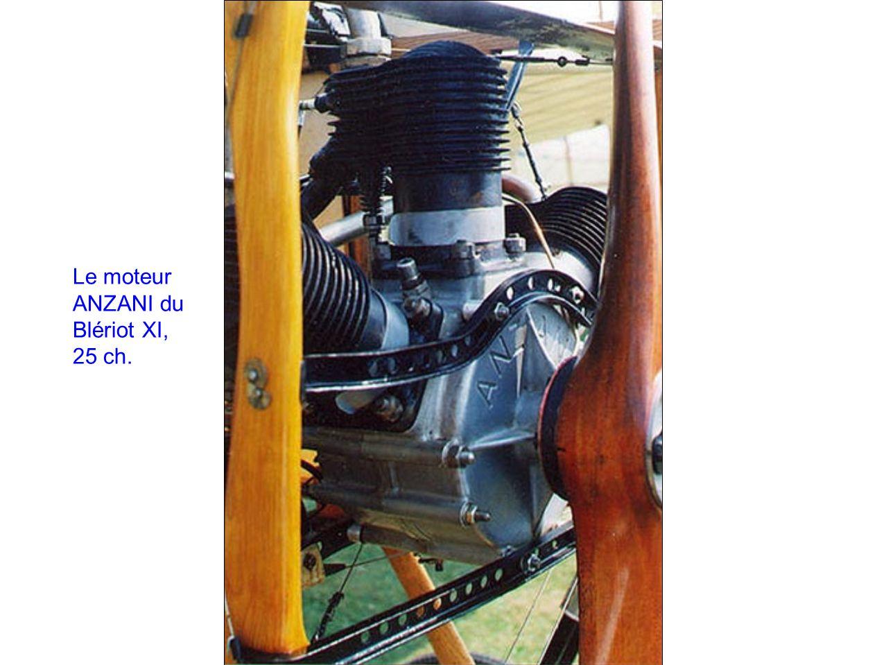 Le moteur ANZANI du Blériot XI, 25 ch.