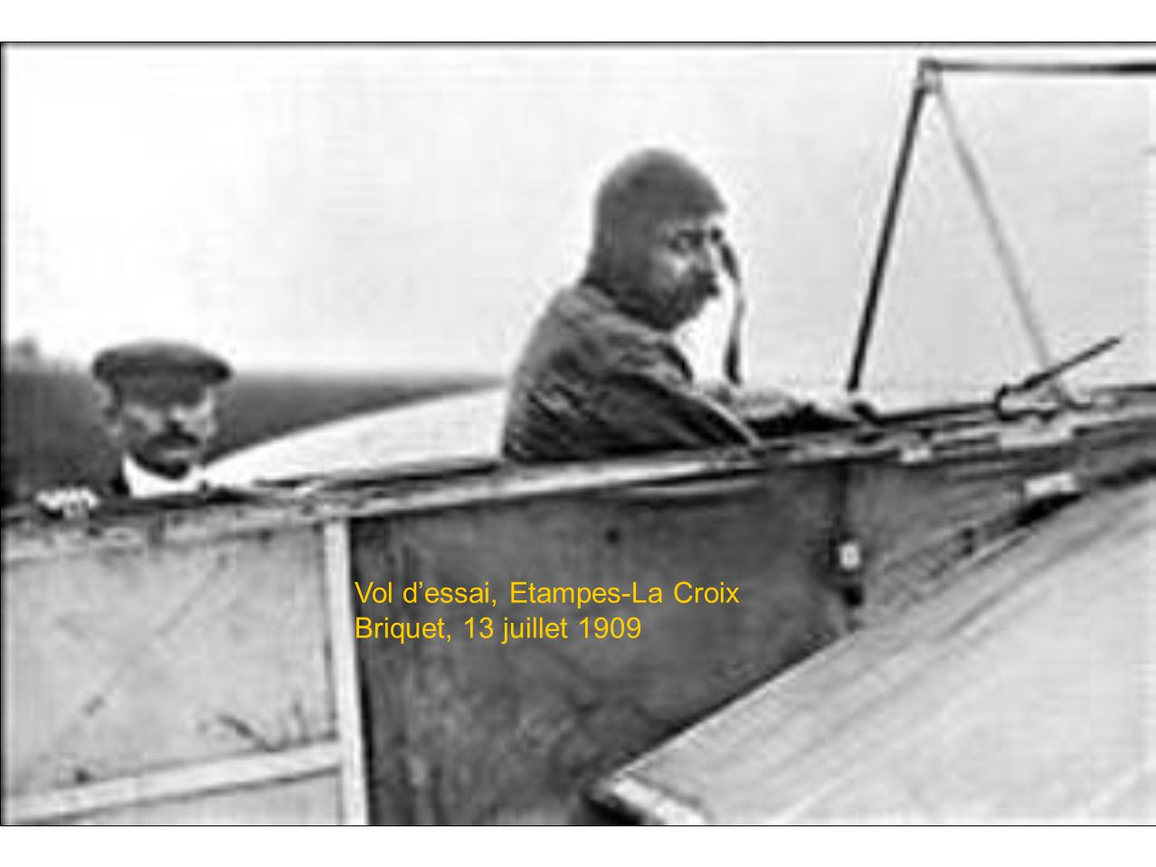 Vol d'essai, Etampes-La Croix Briquet, 13 juillet 1909