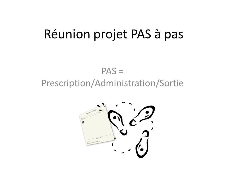 Réunion projet PAS à pas