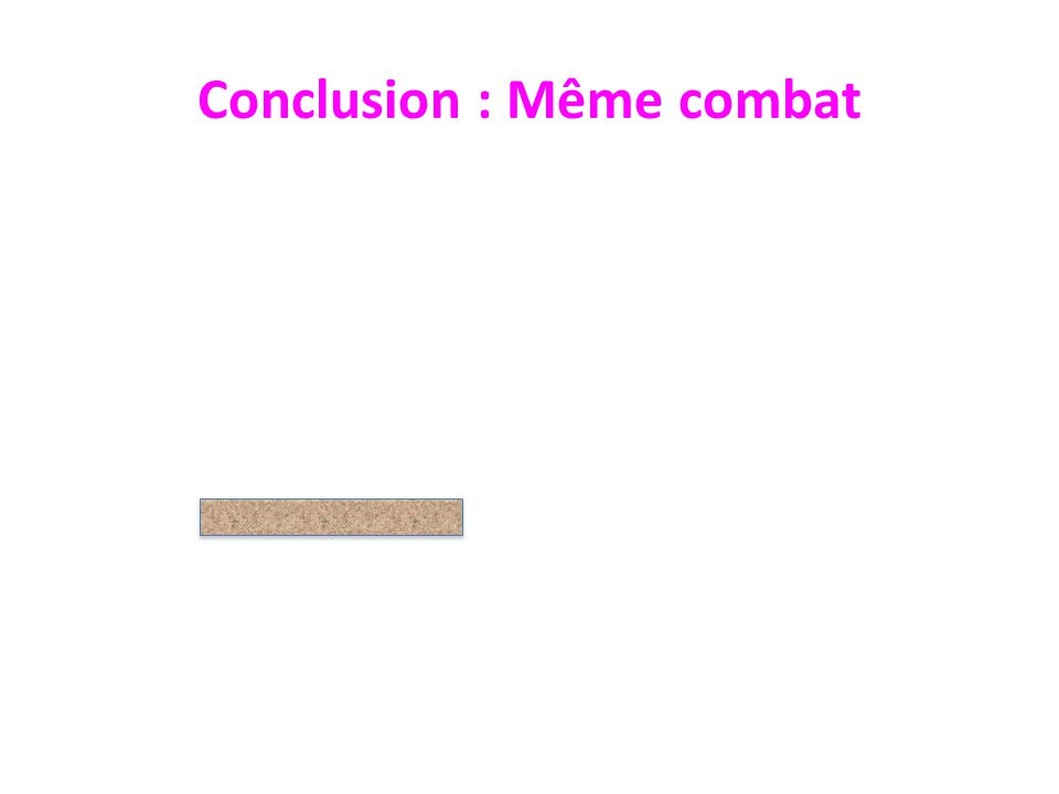 Conclusion : Même combat