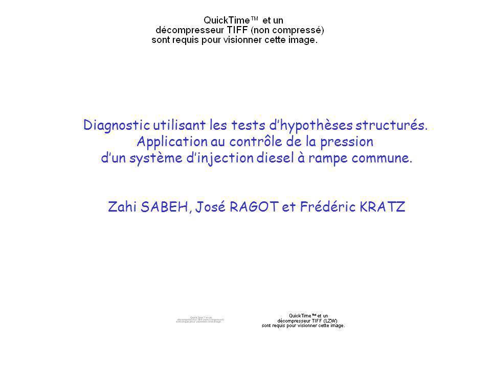Diagnostic utilisant les tests d'hypothèses structurés.