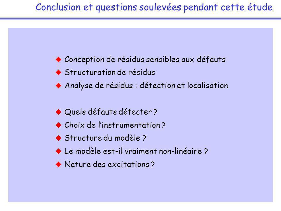 Conclusion et questions soulevées pendant cette étude