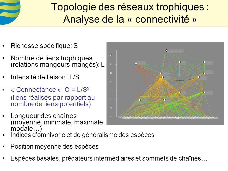 Topologie des réseaux trophiques : Analyse de la « connectivité »