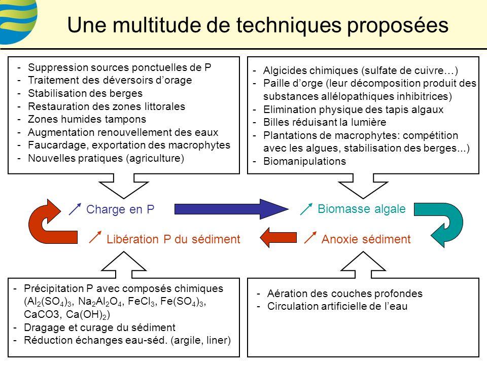 Une multitude de techniques proposées