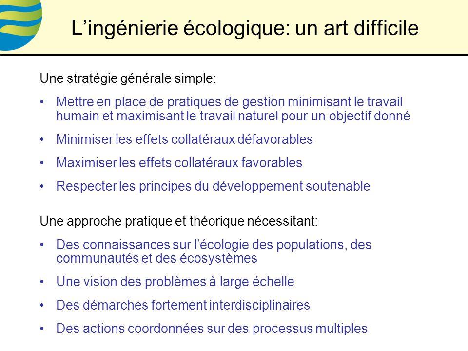 L'ingénierie écologique: un art difficile