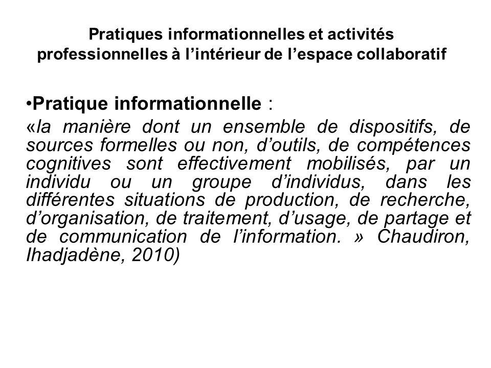 Pratique informationnelle :