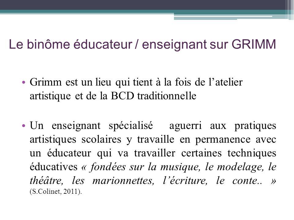 Le binôme éducateur / enseignant sur GRIMM
