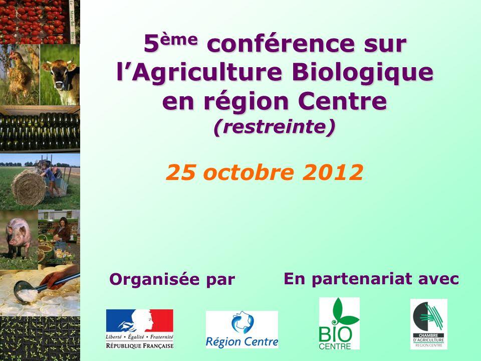 5ème conférence sur l'Agriculture Biologique en région Centre (restreinte)
