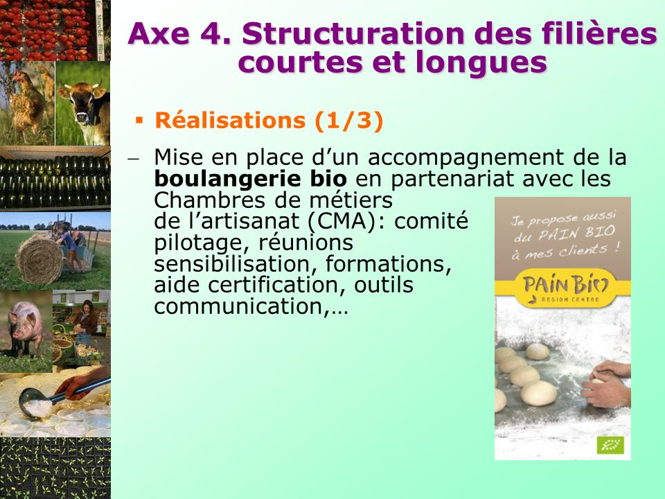 Axe 4. Structuration des filières courtes et longues